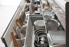 2 1 - 最近のキッチンは収納が大きい!!