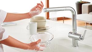 4 1 - タッチスイッチ水ほうき水栓